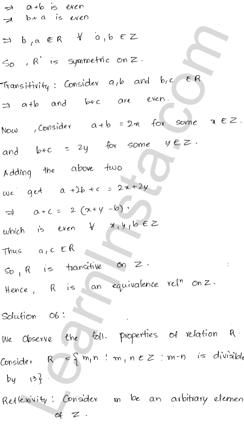 RD Sharma Class 12 Solutions Relations Chapter 1 Ex 1.2 6