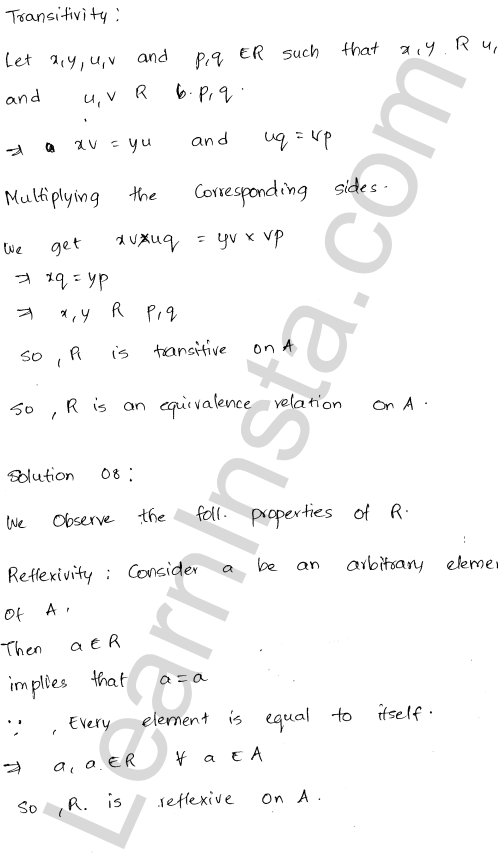 RD Sharma Class 12 Solutions Relations Chapter 1 Ex 1.2 9