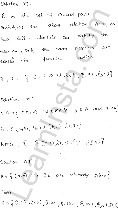 RD Sharma Class 12 Solutions Relations Chapter 1 VSAQ 4