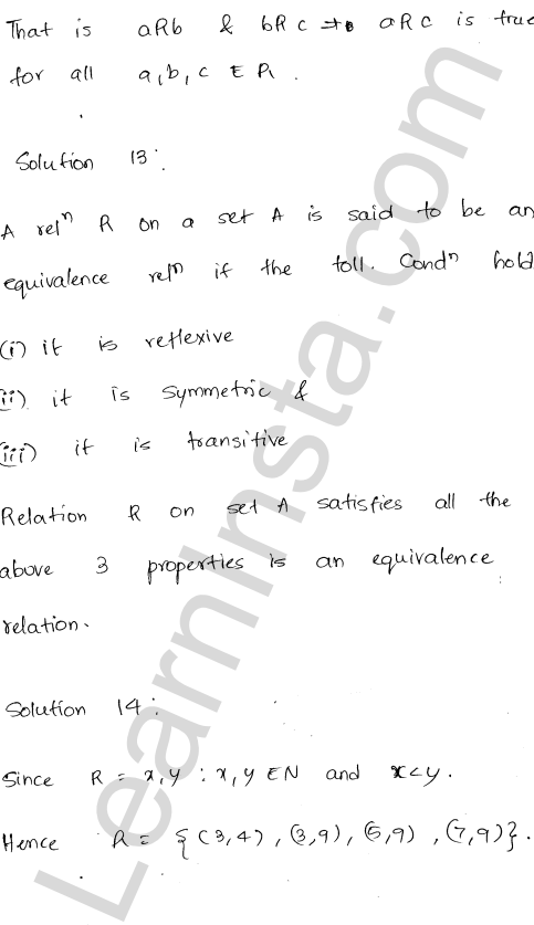 RD Sharma Class 12 Solutions Relations Chapter 1 VSAQ 6