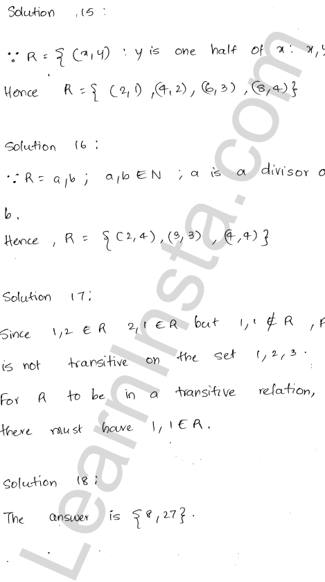RD Sharma Solutions Class 12 Relations Chapter 1 VSAQ 7