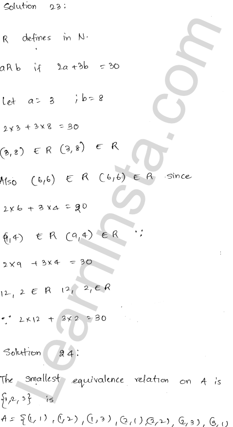 RD Sharma Solutions Class 12 Relations Chapter 1 VSAQ 9