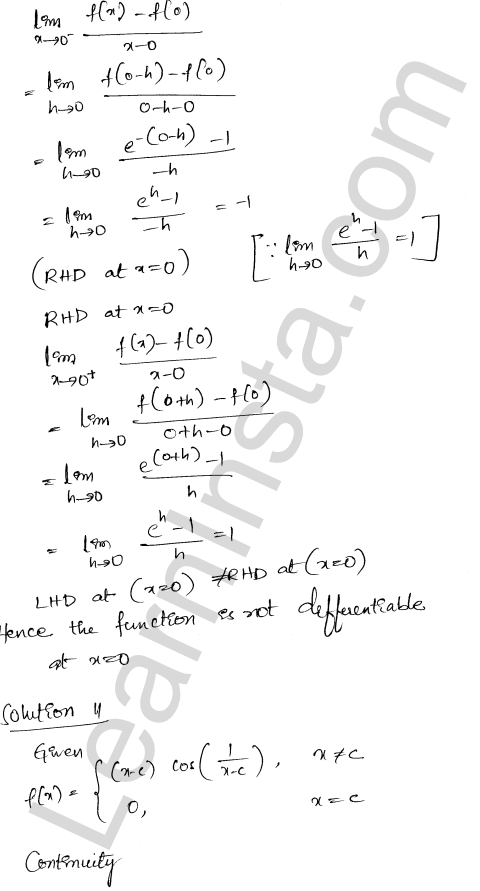 RD Sharma Solutions Class 12 Differentiability Chapter 110 Ex 10.2 10