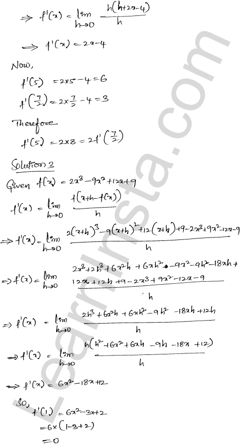 RD Sharma Class 12 Solutions Differentiability Chapter 10 Ex 10.2 2