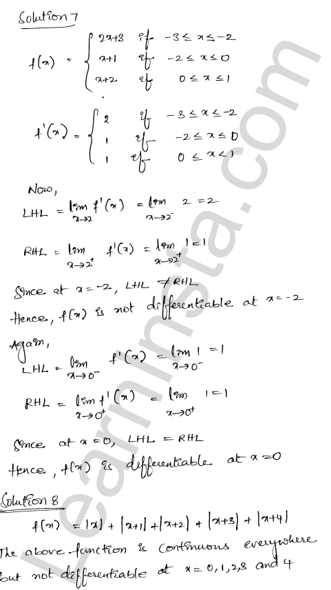 Solution of RD Sharma class 12 chapter 10 Differentiability Ex 10.2 5