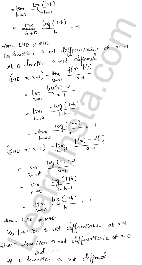 Class 12 RD Sharma maths solutions chapter 10Differentiability Ex 10.2 7