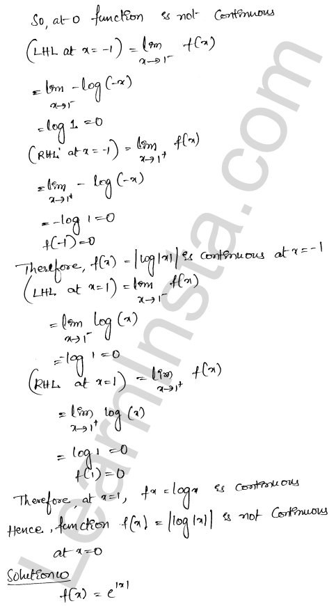 RD Sharma Class 12 Solutions Chapter 10 Differentiability Ex 10.2 8