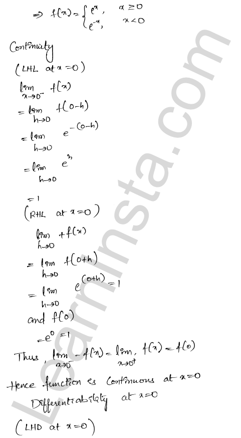 RD Sharma Class 12 Solutions Differentiability Chapter 10 Ex 10.2 9