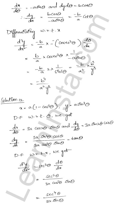 RD Sharma Class 12 Solutions Higher Order Derivatives Chapter 12 Ex 12.1 10
