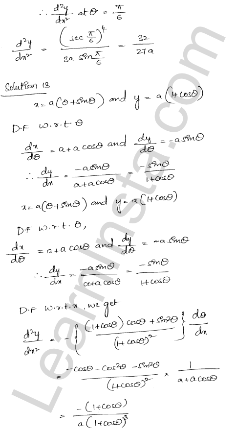 RD Sharma Solutions Class 12 Higher Order Derivatives Chapter 12 Ex 12.1 11