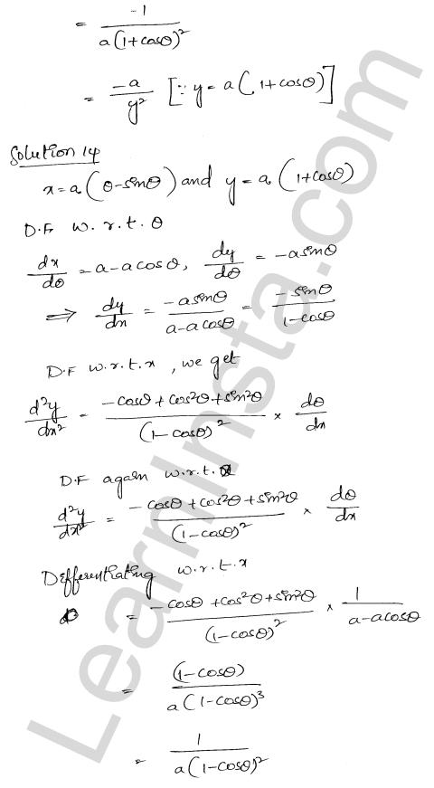 RD Sharma Solutions Class 12 Higher Order Derivatives Chapter 12 Ex 12.1 12