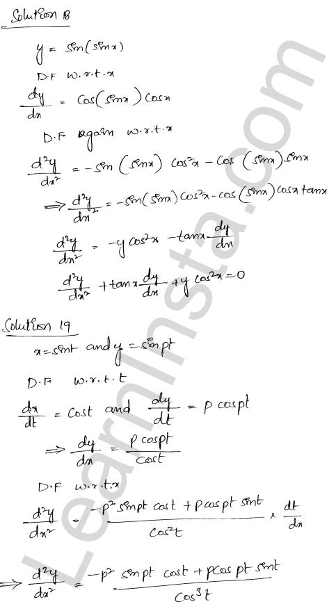 RD Sharma Solutions Class 12 Higher Order Derivatives Chapter 12 Ex 12.1 15