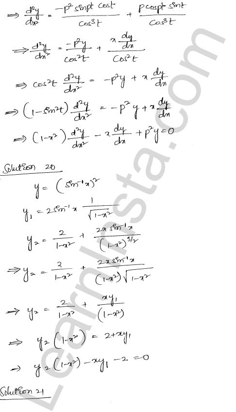 RD Sharma Class 12 Maths Solutions Chapter 12 Higher Order Derivatives Ex 12.1 16