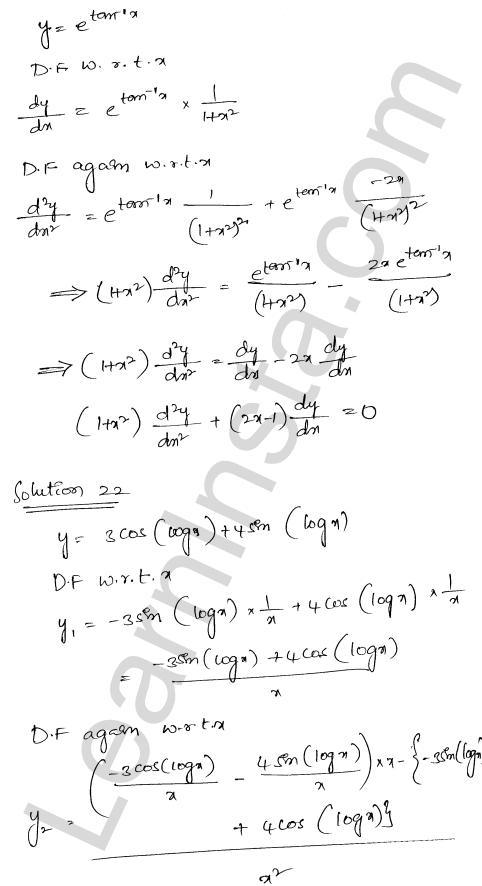 RD Sharma Class 12 Maths Solutions Chapter 12 Higher Order Derivatives Ex 12.1 17