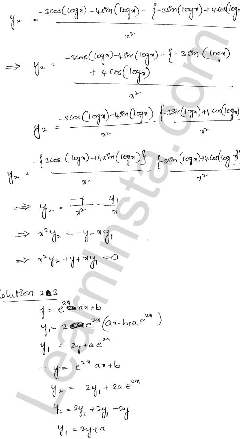 RD Sharma Class 12 Maths Solutions Chapter 12 Higher Order Derivatives Ex 12.1 18