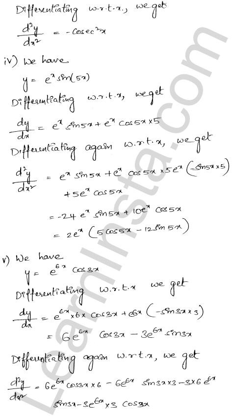 RD Sharma Class 12 Solutions Chapter 12 Higher Order Derivatives Ex 12.1 2