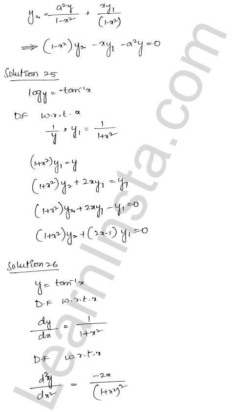 RD Sharma Class 12 Maths Solutions Chapter 12 Higher Order Derivatives Ex 12.1 20