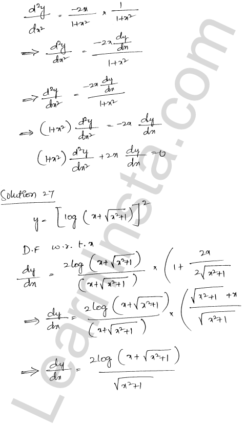 Solution of RD Sharma class 12 chapter 12 Higher Order Derivatives Ex 12.1 21