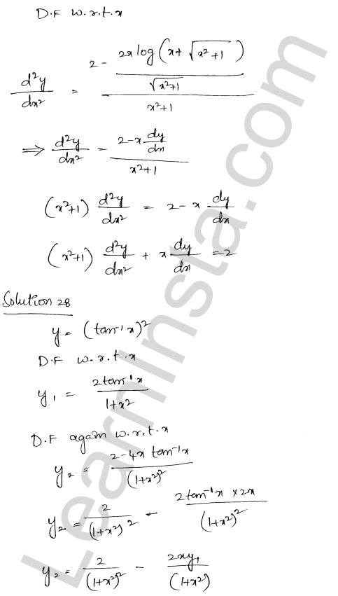 Solution of RD Sharma class 12 chapter 12 Higher Order Derivatives Ex 12.1 22