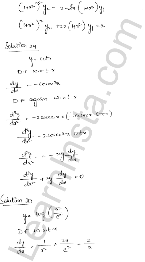 Solution of RD Sharma class 12 chapter 12 Higher Order Derivatives Ex 12.1 23
