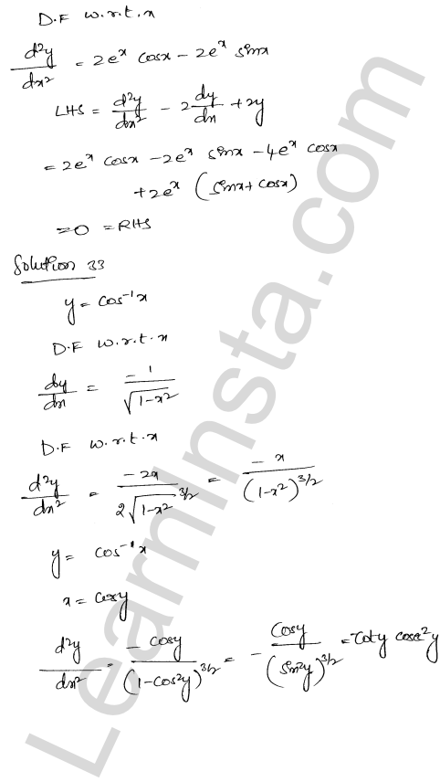 Solution of RD Sharma class 12 chapter 12 Higher Order Derivatives Ex 12.1 25