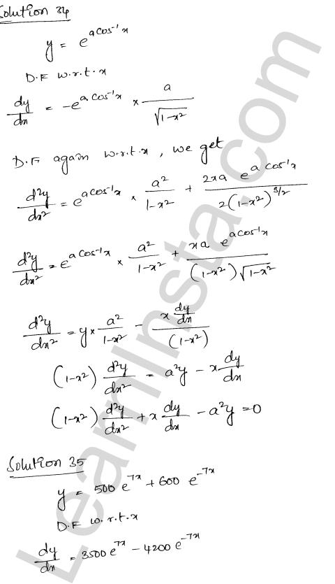 Class 12 RD Sharma solutions chapter 12 Higher Order Derivatives Ex 12.1 26