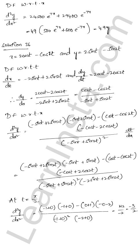 Class 12 RD Sharma solutions chapter 12 Higher Order Derivatives Ex 12.1 27