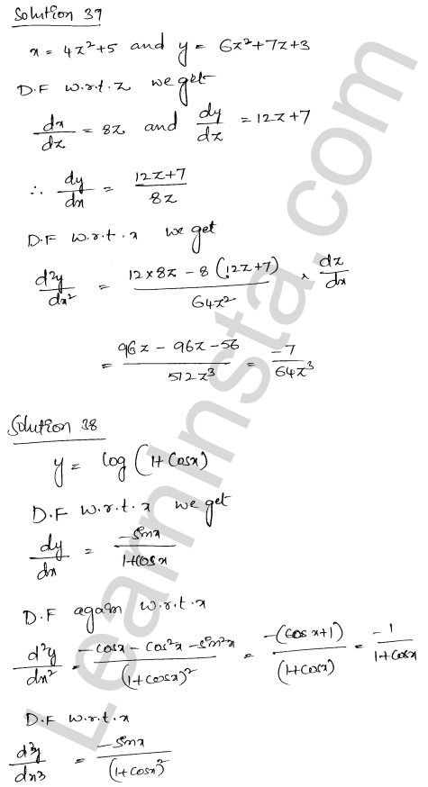 Class 12 RD Sharma solutions chapter 12 Higher Order Derivatives Ex 12.1 28