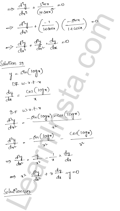 Class 12 RD Sharma solutions chapter 12 Higher Order Derivatives Ex 12.1 29