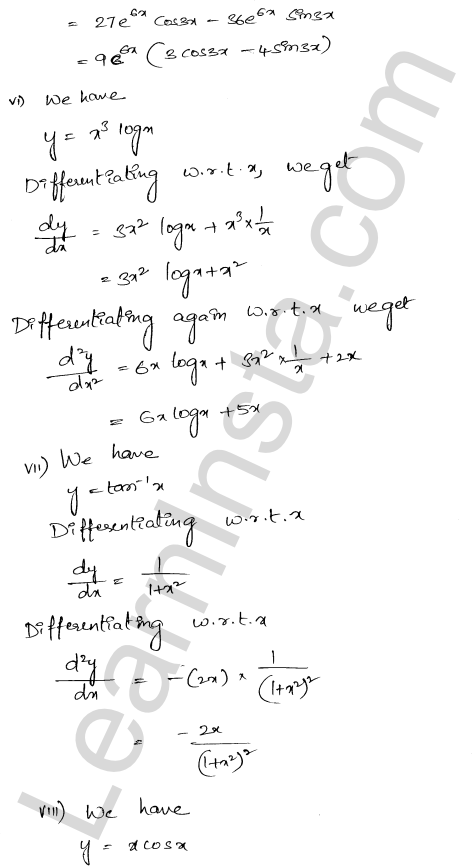 RD Sharma Class 12 Solutions Chapter 12 Higher Order Derivatives Ex 12.1 3