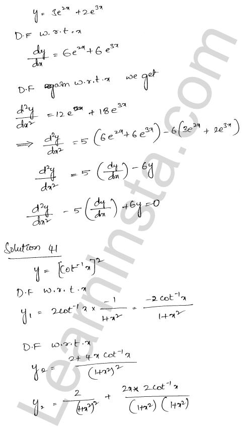 Class 12 RD Sharma solutions chapter 12 Higher Order Derivatives Ex 12.1 30