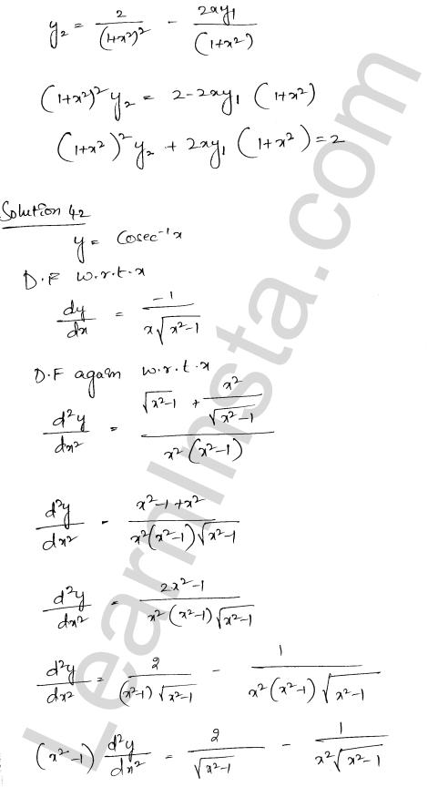 Class 12 RD Sharma maths solutions chapter 12 Higher Order Derivatives Ex 12.1 31