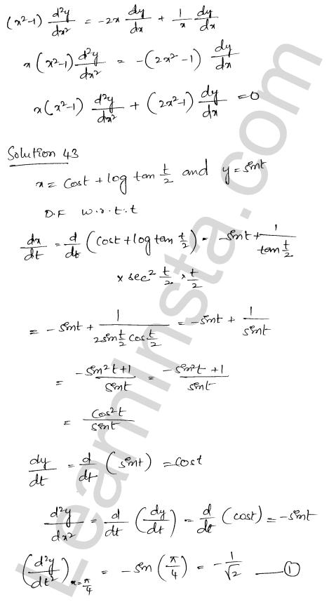 Class 12 RD Sharma maths solutions chapter 12 Higher Order Derivatives Ex 12.1 32