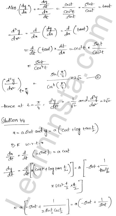 Class 12 RD Sharma maths solutions chapter 12 Higher Order Derivatives Ex 12.1 33
