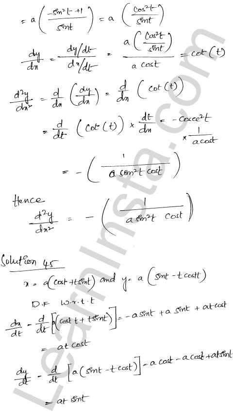 Class 12 RD Sharma maths solutions chapter 12 Higher Order Derivatives Ex 12.1 34