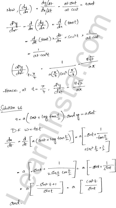Class 12 RD Sharma maths solutions chapter 12 Higher Order Derivatives Ex 12.1 35