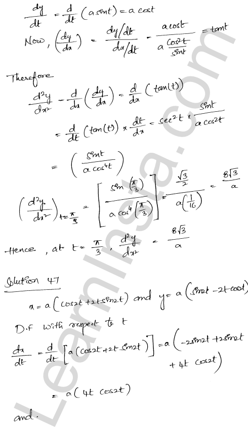 RD Sharma Class 12 Solutions Chapter 12 Higher Order Derivatives Ex 12.1 36