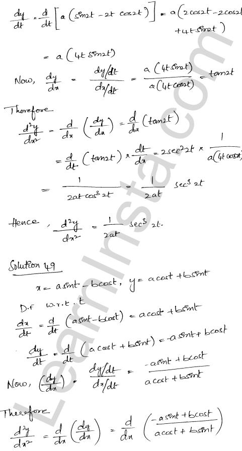 RD Sharma Class 12 Solutions Chapter 12 Higher Order Derivatives Ex 12.1 37