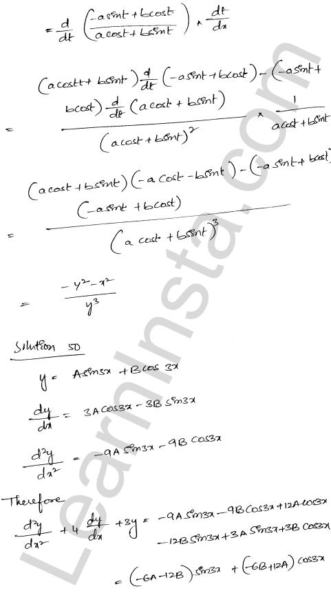 RD Sharma Class 12 Solutions Chapter 12 Higher Order Derivatives Ex 12.1 38
