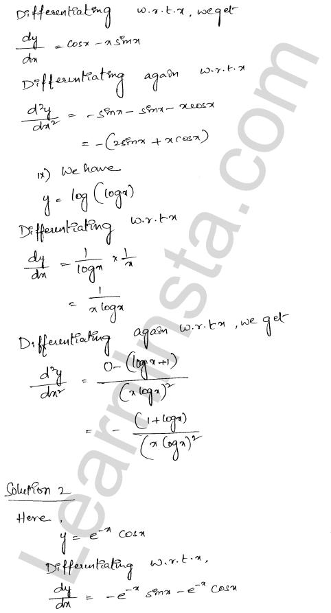 RD Sharma Class 12 Solutions Chapter 12 Higher Order Derivatives Ex 12.1 4