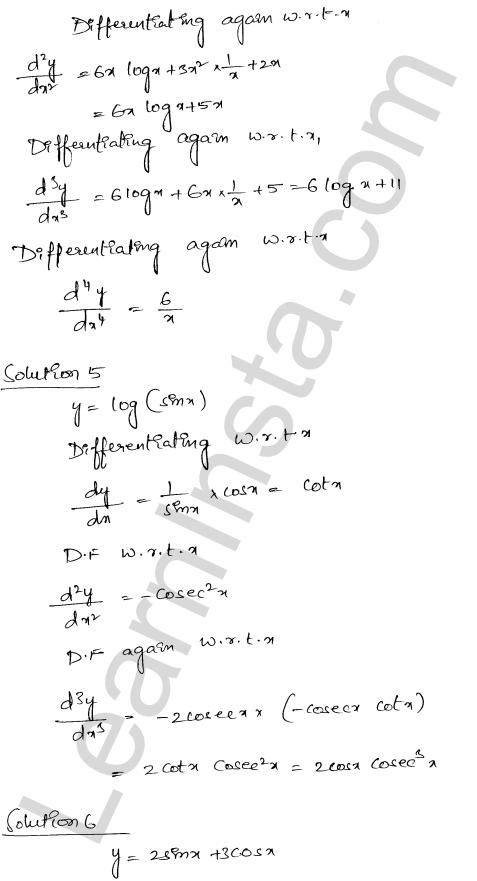 RD Sharma Class 12 Solutions Higher Order Derivatives Chapter 12 Ex 12.1 6
