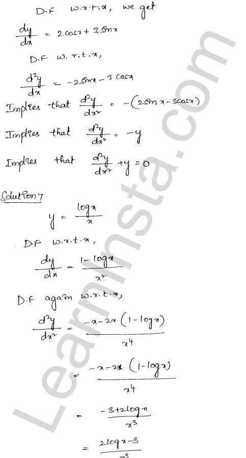 RD Sharma Class 12 Solutions Higher Order Derivatives Chapter 12 Ex 12.1 7