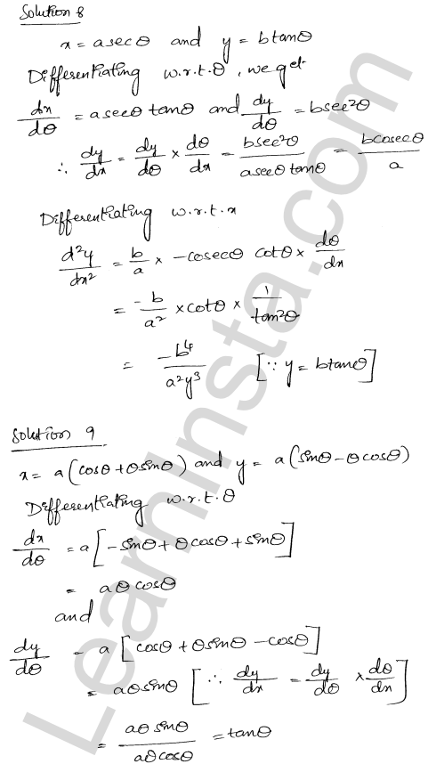RD Sharma Class 12 Solutions Higher Order Derivatives Chapter 12 Ex 12.1 8