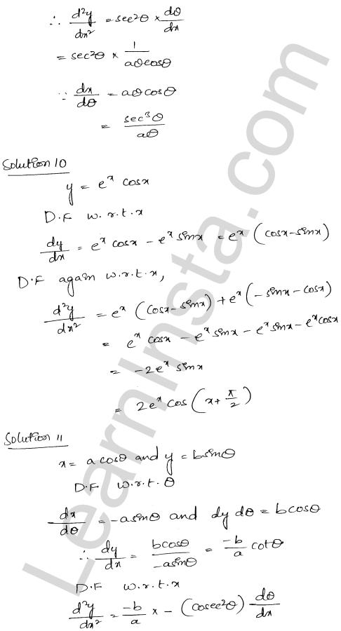 RD Sharma Class 12 Solutions Higher Order Derivatives Chapter 12 Ex 12.1 9