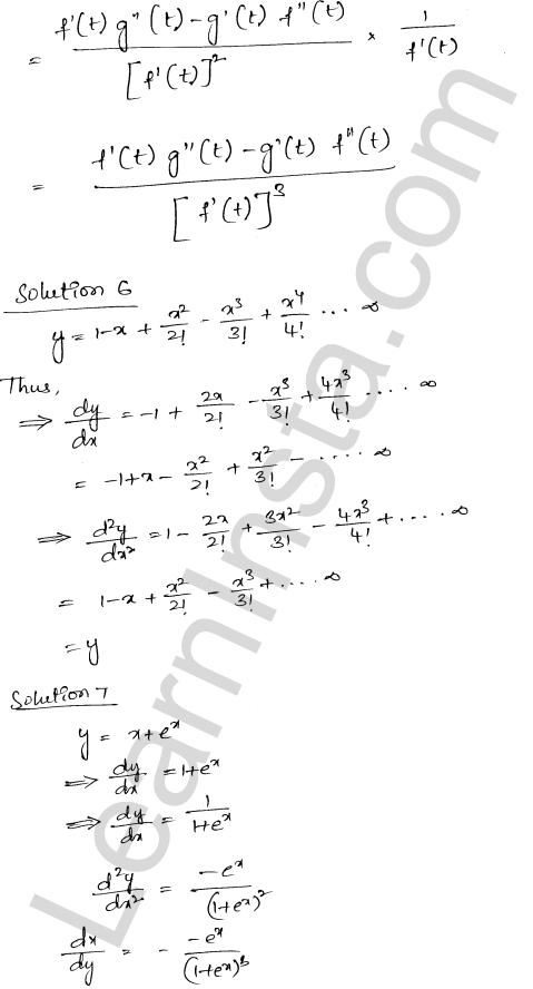 RD Sharma Class 12 Maths Solutions Chapter 12 Higher Order Derivatives VSAQ 3
