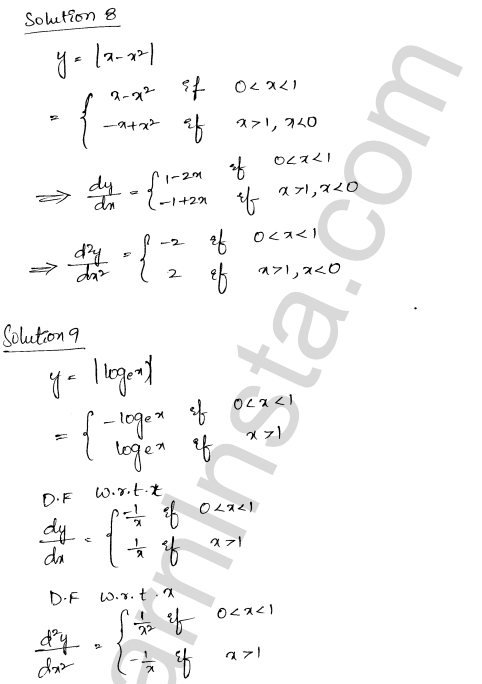 Solution of RD Sharma class 12 chapter 12 Higher Order Derivatives VSAQ 4
