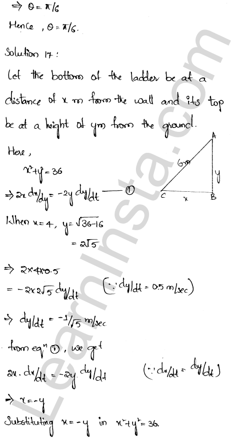RD Sharma Class 12 Maths Solutions Chapter 13 Derivative as a Rate Measurer Ex 13.2 11