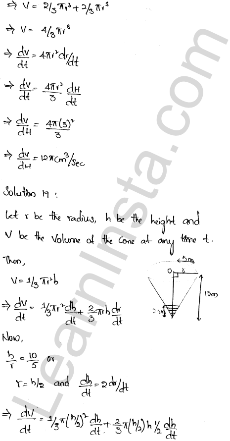 Class 12 RD Sharma solutions chapter 13 Derivative as a Rate Measurer Ex 13.2 13