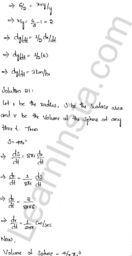 RD Sharma Class 12 Solutions Chapter 13 Derivative as a Rate Measurer Ex 13.2 15