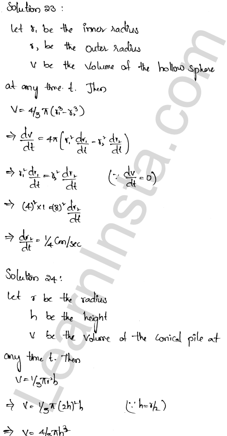 RD Sharma Solutions Class 12 Derivative as a Rate Measurer Chapter 13 Ex 13.2 17